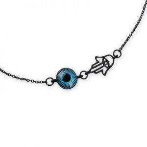 Halsband Fatimas hand med ögat