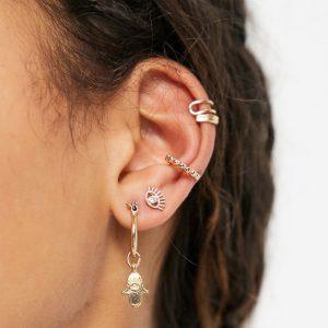 Accessorize - Guldfärgat flerpack med örhängen och öronklämmor