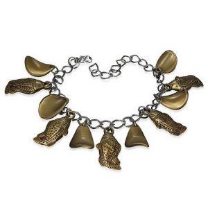 Bronsfärgat Armband med Fiskhänge