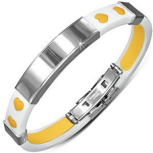 Multi Hearts - Vitt och Gult Armband