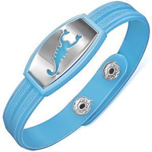 Skorpion - Ljusblått Armband