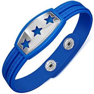 Triple Stars - Blått Armband