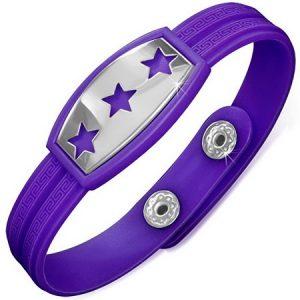Triple Stars - Lila Armband