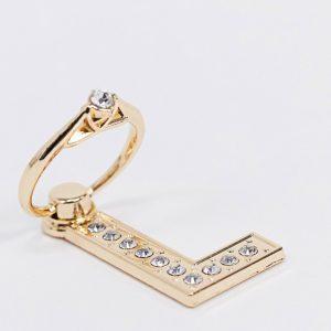 ASOS DESIGN - Telefonring med bokstaven 'L'-Guld