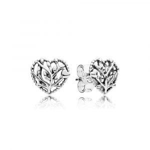 Pandora Hjärtformade Livets Träd Örhängen