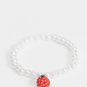 ASOS DESIGN - Armband med pärlor och jordgubbe-Flera