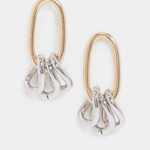 ASOS DESIGN - Flerfärgade örhängen med länkberlocker