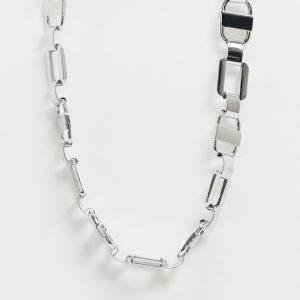 ASOS DESIGN - Silverfärgat halsband med kedjelänkar
