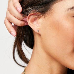 Kingsley Ryan - Örhängen i sterlingsilver med akvamarin, månadssten för mars