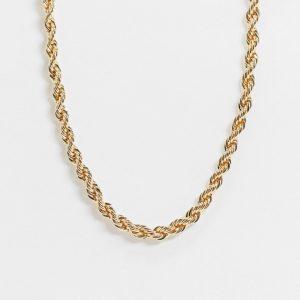 ASOS DESIGN - Guldfärgat halsband med 7 millimeters repkedja