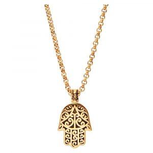 Men's Gold Hamsa Hand Necklace