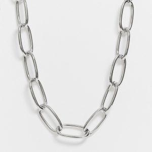 ASOS DESIGN - Silverfärgat halsband med grova länkar