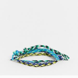 ASOS DESIGN - Flerfärgade armband, 4-pack-Olika färger