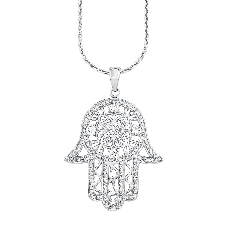 Grace Halsband i Sterling Silver 925 Fatimas hand är en gammal symbol för  beskydd. På detta 70 cm långa halsband hänger det fina hänget ... 5066600140225